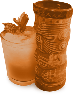 Mai Tai and Tiki Mug